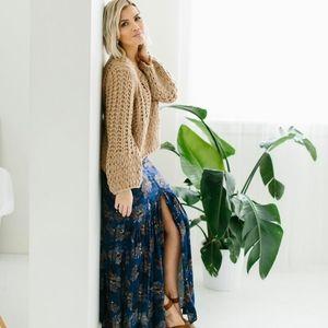 Floral maxi skirt by shop poppywells